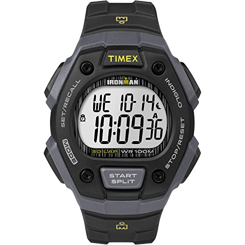 Timex Men's TW5M09500 Ironman Classic 30 Black/Gray Resin Strap - Performance Chronograph High Watch