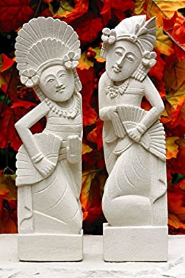 G6 Collection Hand Carved Limestone Sculpture Set Of 2 Balinese Dancer Couple Statue Home Decor Handmade Handcrafted Gift Decorative Figurine Accent Decoration Artwork Stone 8 Tall Amazon Com Au Lawn Garden