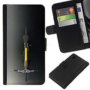 All Phone Most Case / Oferta Especial Cáscara Funda de cuero Monedero Cubierta de proteccion Caso / Wallet Case for Sony Xperia Z1 L39 // Minimalist Hipster Bicycle