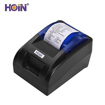 Amazon.com: Aibecy HOIN Impresora de recibos térmica ...