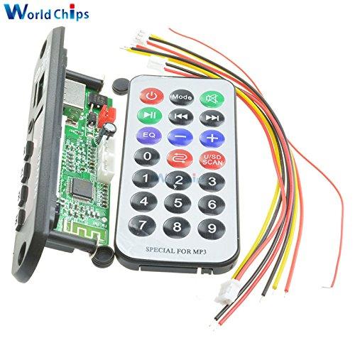 New Version 7-12V Car Bluetooth MP3 Decoder Board Decoding Player Module Support FM Radio USB/TF LCD Screen Remote Controller