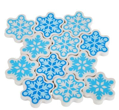 1.5'' SNOWFLAKE ERASER, Case of 30