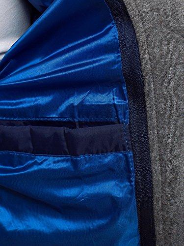 Hombre Térmica Abrigo Style Chaqueta Mix de Chaqueta J Chaqueta OZONEE Acolchada Chaqueta 514K 10 de Azul jb Chaqueta Acolchada x1012k Invierno Pw5ZFzpq