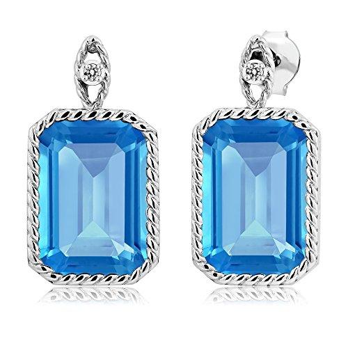 Diamond 925 Sterling Silver Earrings - 2