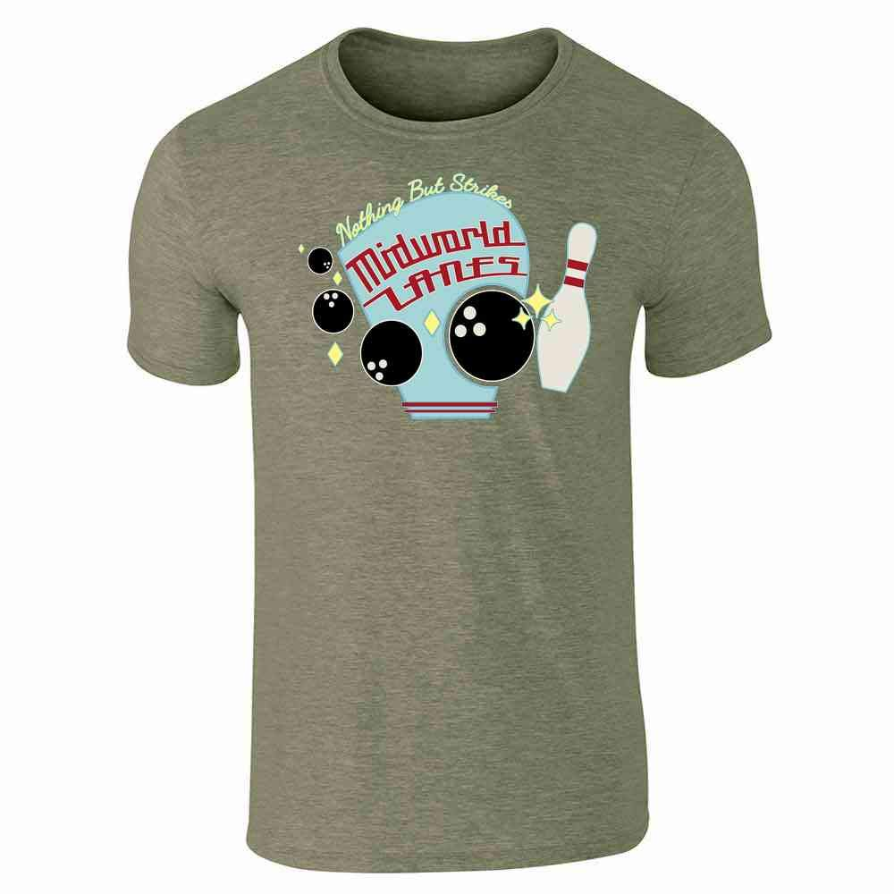 Nothing But Strikes At Midworld Lanes Short Sleeve T-shirt