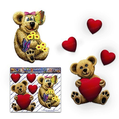teddy bear window decal - 4