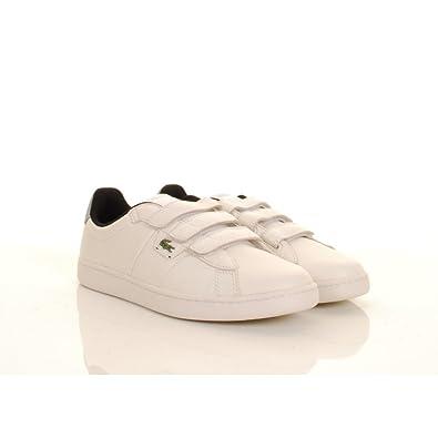 21fff3450e7e Lacoste Broadwick Strap Mens Leather Trainers Off White  Amazon.co.uk   Shoes   Bags