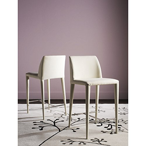 Safavieh Home Collection Garretson Beige Linen 36.4-inch Counter Stool (Set of 2)