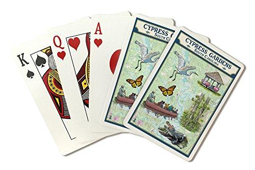 Cypress Garden Bridge - Cypress Gardens, South Carolina - Nautical Chart (Playing Card Deck - 52 Card Poker Size with Jokers)