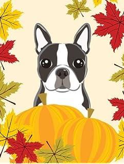 Carolineu0027s Treasures BB2009GF Boston Terrier Thanksgiving Garden Flag,  Small, Multicolor
