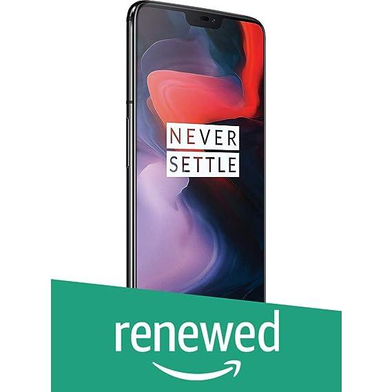 (Renewed) OnePlus 6 (Mirror Black 8 GB RAM +128GB)