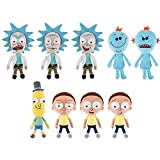 Funko Galactic Plushies - Rick and Morty - SET OF 9 (3 Rick, 3 Morty, 2 Mr. Meeseeks +1)