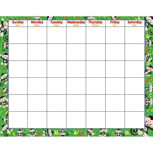 - TREND enterprises, Inc. Monkey Mischief Wipe-Off Calendar, Monthly