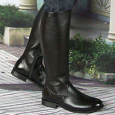 Love & zapatos hombres zapatos de boda/al aire libre/oficina y carrera/Fiesta y tarde/atlético/vestido/casual botas sintético negro negro