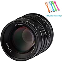7artisans 55mm F1.4 APS-C Large Aperture Manual Focus Prime Fixed Lens For Canon EOS-M Mount Cameras M1,M2,M3,M5,M6,M10,M100- Black (55mm F1.4 Canon EOS-M Mount)
