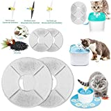 Pet Water Fountain Filter, Pet Fountain Cat Water Dispenser Filter, Flower Style Pet Dispenser Filter, Super Quiet Automatic Drinking Water Bowl Filterfor Cat and Dog (1PC Replacement Filter)