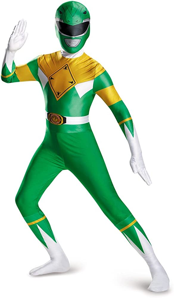 B00004ZEEL Disguise Men's Green Ranger Bodysuit Costume Teen 515ETCiYQcL