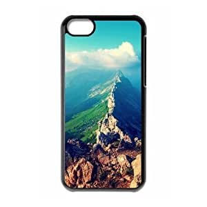 Diy Beautiful Landscapes Nature Custom Cover Phone Case for iphone 5c Black Shell Phone [Pattern-5]