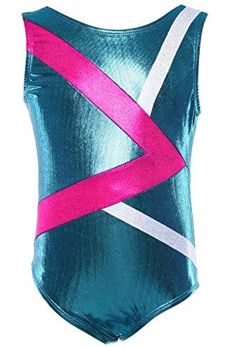 Dancina Girls Gymnastics Tank Top Leotard Dancewear 10 Greater > Aqua