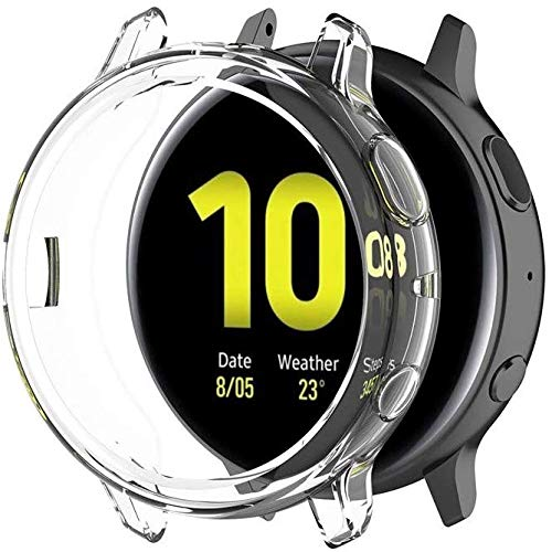 Halnziye Screen Protector for Galaxy Watch Active 2 (44mm) - 3 Packs Ultra Slim Soft Full Protective Cover Case for Samsung Galaxy Watch Active2 (Clear)