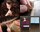 20 Pcs 18″ inches Remy Seamless Tape Skin weft Human Hair Extensions Color # 4 Medium Brown For Sale