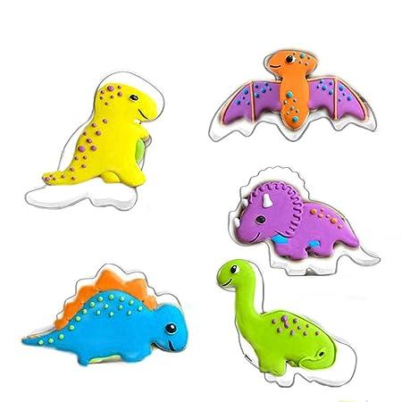 Leisial Molde de Dinosaurio de Acero Inoxidable, diseño Bonito ...