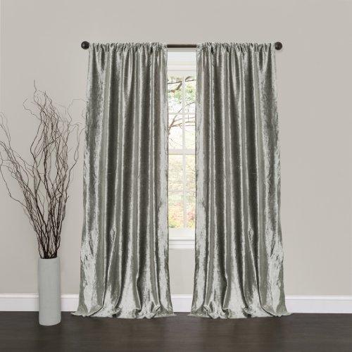Lush Decor Velvet Dream Window Curtain Panels, 84 by 40-Inch, Silver, Set of 2
