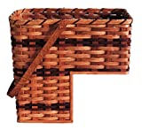 amish baskets and beyond - Amish Handmade Step Basket w/Swinging Handle (WINE)