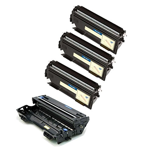 Brother DR-400 3 x TN-460 (DR400 TN460) Compatible Toner & Drum Cartridge - Toner 6,000 Drum 20,000 Page Yield At 5% Page Coverage - For Use With Brother DCP-1200, 1400-4Pack (Compatible Dr400 Drum)