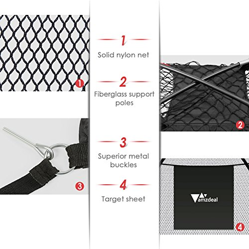 Amzdeal Golf Practice Net Golf Driving Hitting Net for Backyard Indoors Outdoors Golf Cage Trainging Aids with Target Sheet by Amzdeal (Image #2)