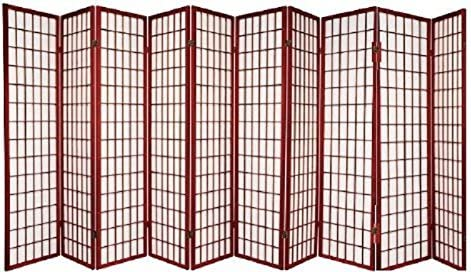 10 Panel Room Divider Square Design – Cherry