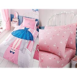 Princess Duvet UK Single/ US Twin Duvet Cover & Pillowcase Plus Matching Fitted Fitted Sheet