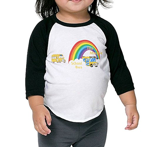 Grace Little The Magic School Bus Fashion Boys & Girls Infant 100% Cotton 3/4 Sleeve Raglan Tee Unisex -