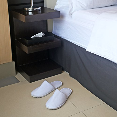 Spa Slippers by Shangrila Spa Collection - Disposable Hotel Slippers for Home, Travel and Guests. Premium Quality White Unisex Close Toed Spa Slippers in 2 sizes for Women, Men, Teens and Kids. Bulk. by Shangrila Spa Collection (Image #8)