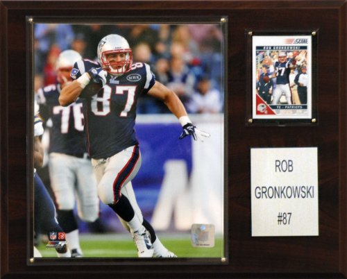 NFL Rob Gronkowski New England Patriots Player Plaque