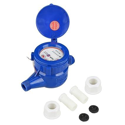 1 Set Dn15 Dry Water Meter Garden Home Plastic Cold Water Meter Single Water Flow Dry Table Measuring Tool Home
