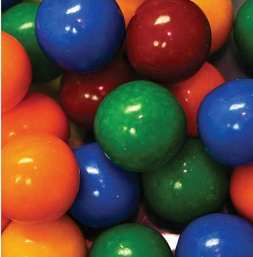 Dubble Bubble Cry Baby Sour Guts 24mm Gumballs 1 Inch, 2 Pounds Approximately 100 Gum Balls.