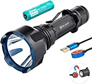 Olight Warrior X Turbo 1100 Lumen 1000 Meter Throw Tail Switch 21700 Battery Magnetic Rechargeable Tactical Fl