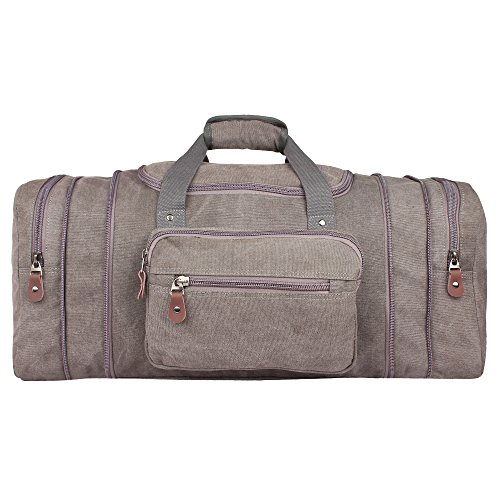 20 inch Expandable Canvas Duffle Bag - Carry On Airplane luggage by Rustic Town