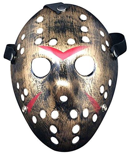 Oliasports Jason Vs. Freddy Mask Halloween Costume Prop, Metallic