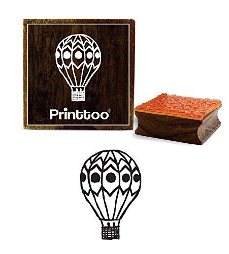 (Printtoo Craft Textile Hot Air Balloon Pattern Wooden Rubber Stamp Scrap-Booking-2 x 2)