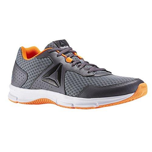 Reebok Herren Express Runner Sneaker Aschgrau / Asteroid Staub / Wild Orange / Schwarz / Weiß