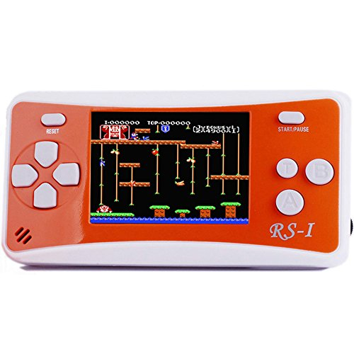 "JJFUN RS-1 Handheld Game Console for Children,Retro Game Player with 2.5"" 8-Bit LCD Portable Video Games,The 80's Arcade Video Gaming System,Built-in 152 Classic Old School Games Entertainment-Orange"