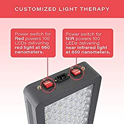 Red Light Therapy Device Red 660nm Near Infrared 850nm, FDA Cleared, 200 LEDs, High Irradiance Over 100mW/cm2 for Anti-Aging, Fat Loss, Muscle Gain, Performance, and Brain Optimization, HG1000