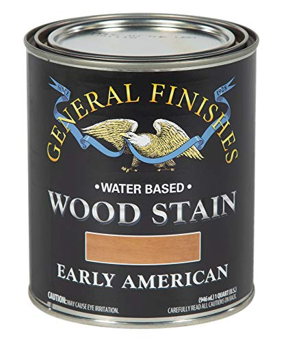 General Finishes WEQT Water Based Wood Stain, 1 Quart, Early American