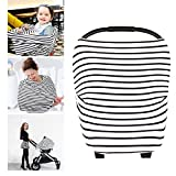 Image of YOOFOSS Nursing Breastfreeding Cover Scarf - Baby Car Seat Canopy, Shopping Cart, Stroller, Carseat Covers for Girls and Boys - Best Multi Use Infinity Stretchy Shawl