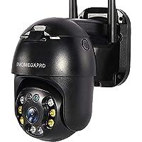 Inqmegapro PTZ IP Dome bewakingscamera, 1080p WLAN & LAN outdoor camera met IP65 waterdicht, bidirectionele audio…