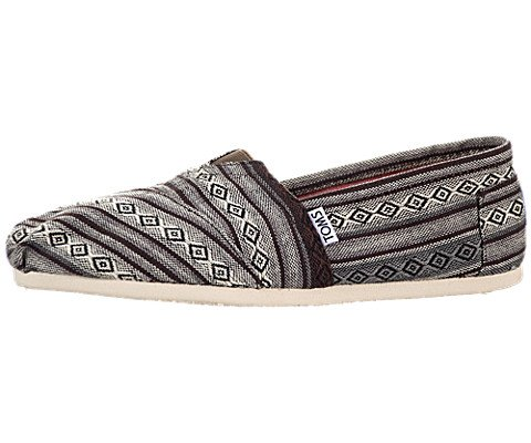 Toms Womens Shoes Classic Slip On Nepal Weave 10000676 8.5 M Black Nepal