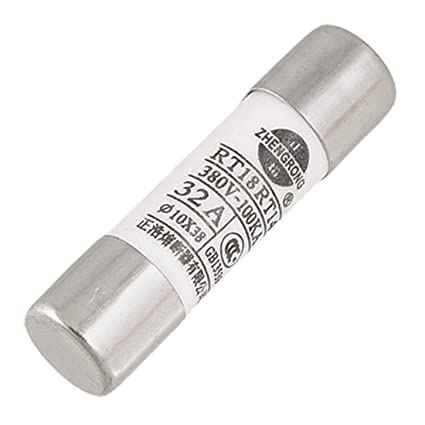 uxcell 10 Pcs Cylindrical Contact Cap Fuse Links 10mm x 38mm 500V 32A