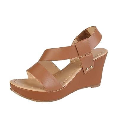 Kitipeng Femme Cher Sandales Ete pas bout Compensées Chaussures T5luK3FJc1